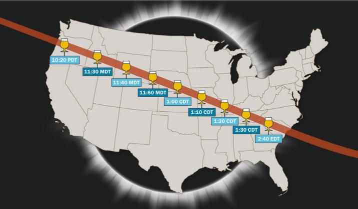 全美10个观看日全食最佳的精酿酒厂