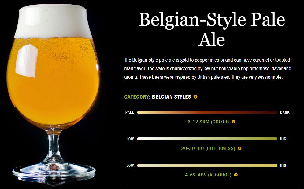 精酿啤酒配餐:比利时型淡色烈性艾尔啤酒